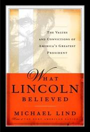 Cover of: What Lincoln believed
