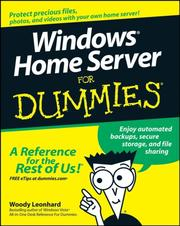 Cover of: Windows Home Server For Dummies