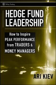 Cover of: Hedge fund leadership