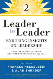 Cover of: Leader to Leader 2 | Frances Hesselbein