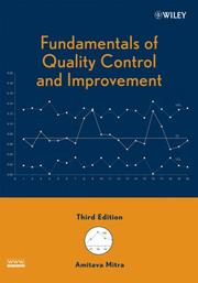 Cover of: Fundamentals of Quality Control and Improvement | Amit Mitra