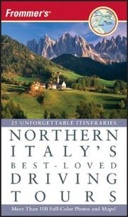 Cover of: Frommer's Northern Italy's Best-Loved Driving Tours (Best Loved Driving Tours)