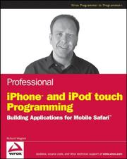 Cover of: Professional iPhone and iPod touch Programming
