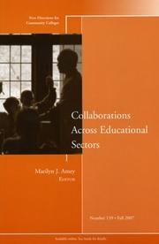 Cover of: Collaborations Across Educational Sectors | Marilyn J. Amey