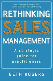 Cover of: Rethinking sales management