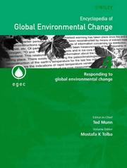 Cover of: Encyclopedia of Global Environmental Change, Responding to Global Environmental Change