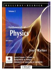 Cover of: (WCS)Fundamentals of Physics, 8 Edition, Volume 2 for University of Louisiana at Lafayette (Fundamentals of Physics)