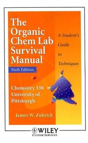 Cover of: Organic Chemistry Lab Manual 6th Edition for University of Pittsburgh