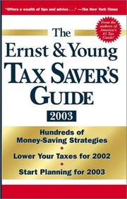 Cover of: The Ernst & Young Tax Saver