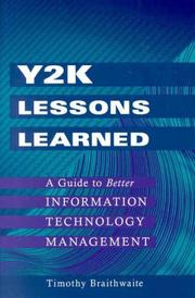 Cover of: Y2K Lessons Learned | Timothy Braithwaite