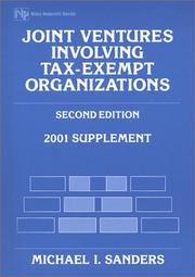 Cover of: Joint Ventures Involving Tax-Exempt Organizations, 2001
