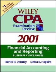 Cover of: Wiley Cpa Examination Review, 2001 | Patrick R. Delaney