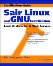 Cover of: Sair Linux and GNU Certification(r) Level II, Apache and Web Servers | Tobin Maginnis