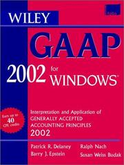 Cover of: Wiley Gaap 2002 for Windows | Patrick R. Delaney
