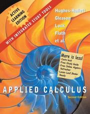 Cover of: Applied Calculus, 2e, Active Learning Edition | Deborah Hughes-Hallett