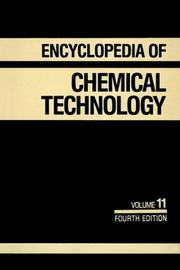 Cover of: Kirk-Othmer Encyclopedia of Chemical Technology, Flavor Characterization to Fuel Cells (Encyclopedia of Chemical Technology) | Kirk-Othmer
