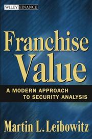 Cover of: Franchise Value | Martin L. Leibowitz