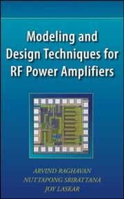 Cover of: Modeling and Design Techniques for Radio-Frequency Power Amplifiers | Arvind Raghavan