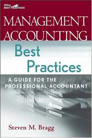 Cover of: Management accounting best practices: a guide for the professional accountant
