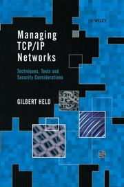 Cover of: Managing TCP/IP Networks