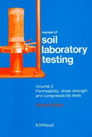 Manual of soil laboratory testing by K. H. Head