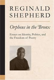 Cover of: Orpheus in the Bronx