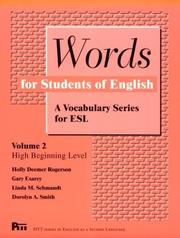 Cover of: Words for Students of English  | English Language Institute