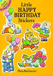 Cover of: Little Happy Birthday Stickers
