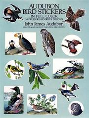 Cover of: Audubon Bird Stickers in Full Color: 53 Pressure-Sensitive Designs