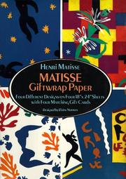 Cover of: Matisse Giftwrap Paper: Four Different Designs, Cards Inc.