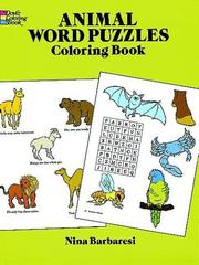 Cover of: Animal Word Puzzles Coloring Book