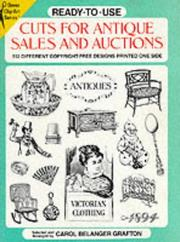 Cover of: Ready-To-Use Cuts for Antique Sales and Auctions | Carol Belanger Grafton