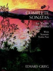 Cover of: Complete Sonatas for Violin and Piano