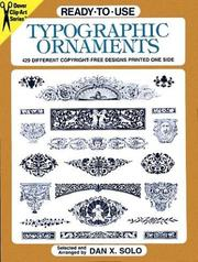 Cover of: Ready-to-Use Typographic Ornaments