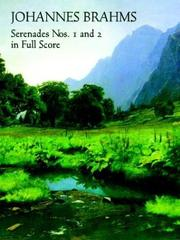 Cover of: Serenades Nos. 1 and 2 in Full Score