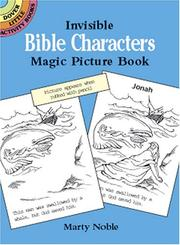 Cover of: Invisible Bible Characters Magic Picture Book