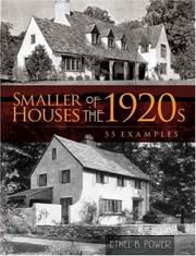 Cover of: Smaller Houses of the 1920s | Ethel B. Power