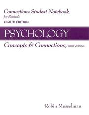Cover of: Connections Student Notebook for Rathus' Psychology