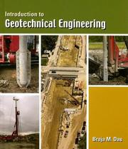 Cover of: Introduction to geotechnical engineering