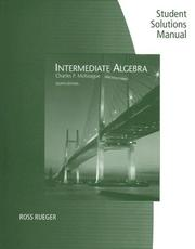 Cover of: Student Solutions Manual for McKeague's Intermediate Algebra, 8th