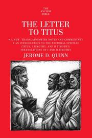 Cover of: The Letter to Titus
