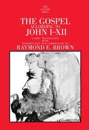 Cover of: The Gospel According to John I-XII