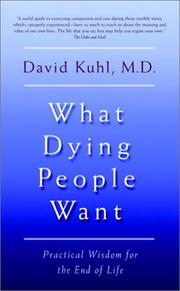 Cover of: What dying people want