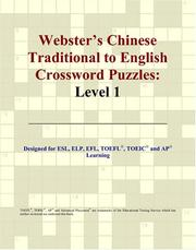 Cover of: Webster's Chinese Traditional to English Crossword Puzzles