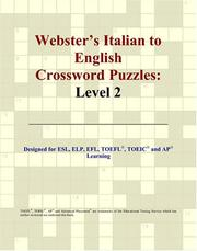 Cover of: Webster's Italian to English Crossword Puzzles
