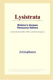 Cover of: Lysistrata (Webster's German Thesaurus Edition) by Aristophanes