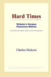 Cover of: Hard Times (Webster