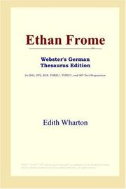 Cover of: Ethan Frome (Webster