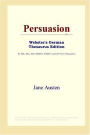 Cover of: Persuasion (Webster