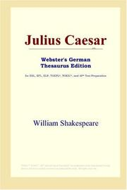 Cover of: Julius Caesar (Webster